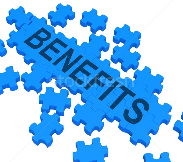 Benefits Puzzle Shows Company Rewards  Stock photo © stuartmiles