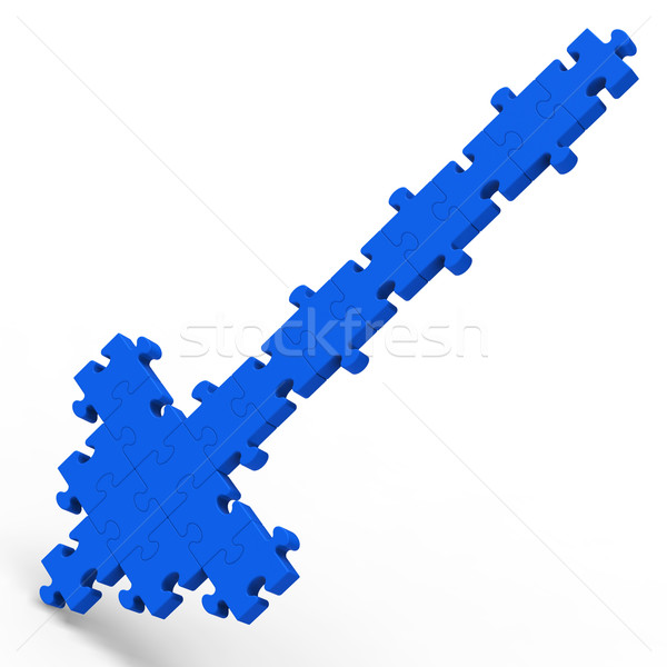 Arrow Pointing Down Puzzle Shows Wrong Way Stock photo © stuartmiles