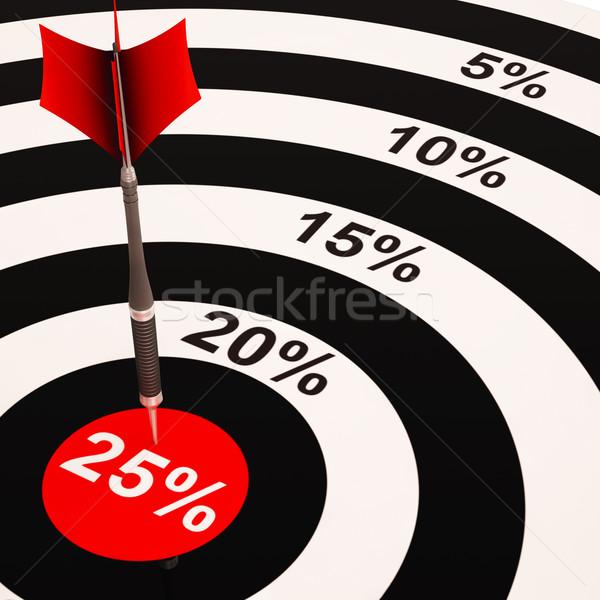 25 procent gekozen prijs verkoop Stockfoto © stuartmiles