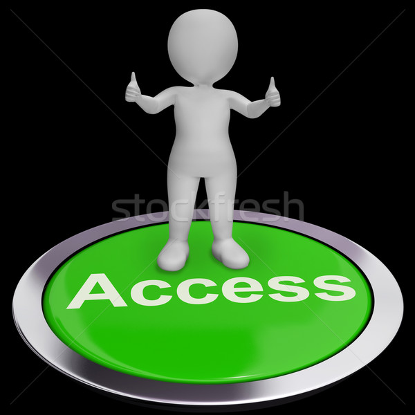 Access Button Shows Permissions Login And Security Stock photo © stuartmiles