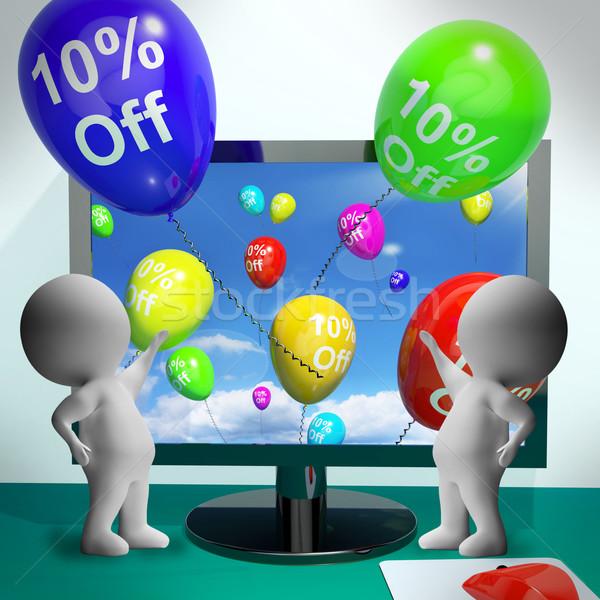 Balonlar bilgisayar satış indirim on Stok fotoğraf © stuartmiles