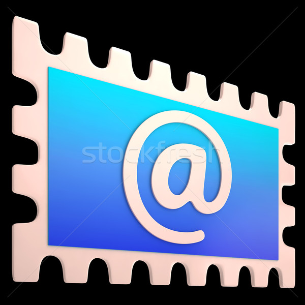 E-mail Stamp Shows Online Mailing Communication Post Stock photo © stuartmiles