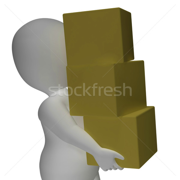 Delivery By 3d Character Shows Packages Postal Stock photo © stuartmiles