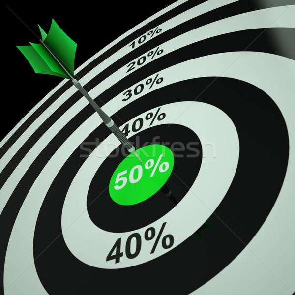 50Percent On Dartboard Shows Bonus Prices Stock photo © stuartmiles