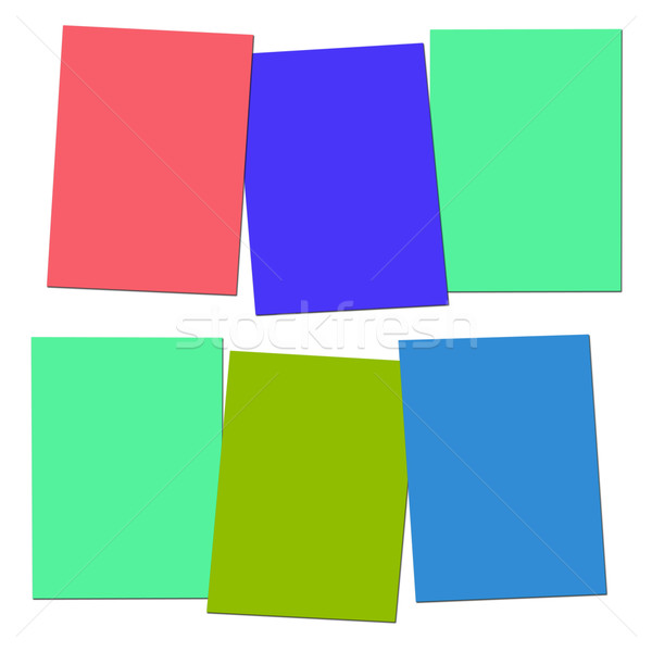 Three Blank Paper Slips Show Copyspace For 3 Letter Words Stock photo © stuartmiles
