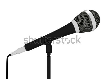 Micro musical concert chanter Photo stock © stuartmiles