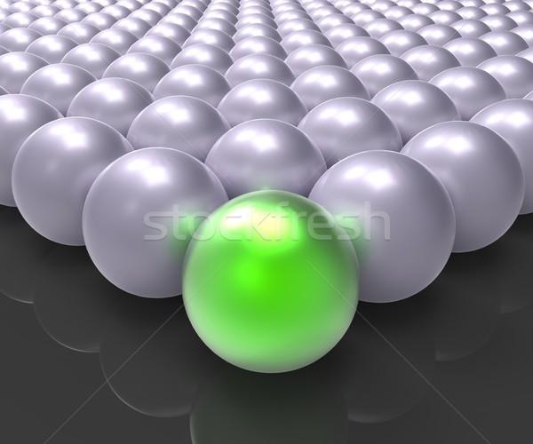 ведущий металлический мяча руководство победителем Сток-фото © stuartmiles