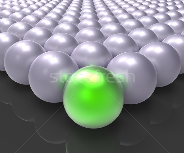 Leading Metallic Ball Showing Leadership Or Winner Stock photo © stuartmiles