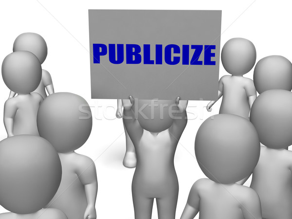 Publicize Board Character Means Commercial Advertising Or Busine Stock photo © stuartmiles