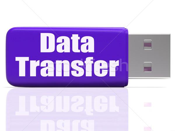 Data Transfer Pen drive Shows Data Storage Or Files Transfer Stock photo © stuartmiles