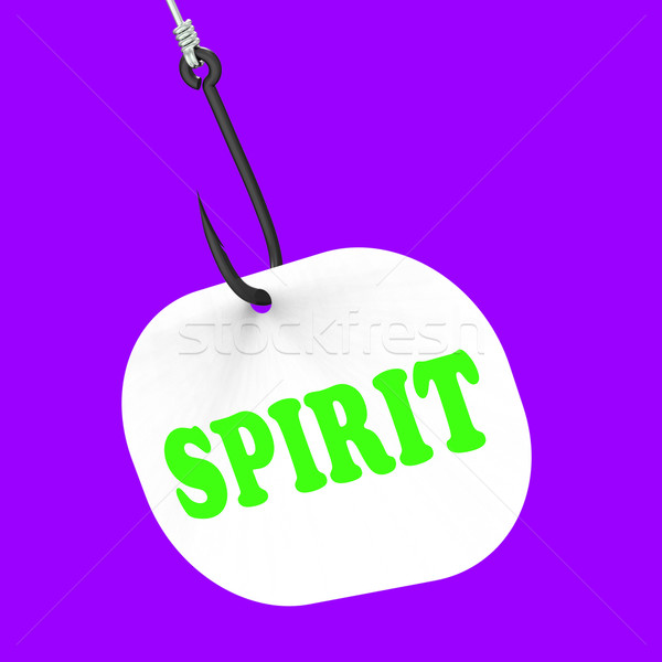 Spirit On Hook Means Spiritual Body Or Purity Stock photo © stuartmiles