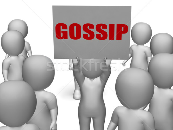 Gossip Board Character Means Secret Whispering And Rumouring Stock photo © stuartmiles