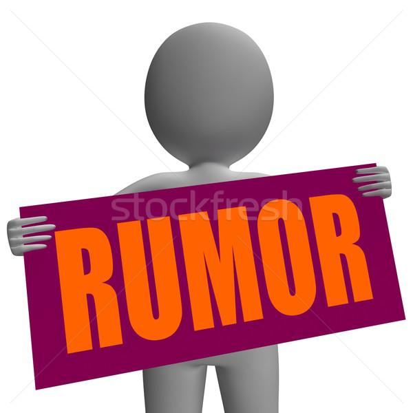 Rumor assinar significado misterioso Foto stock © stuartmiles
