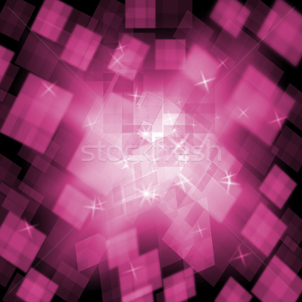 Pink Cubes Background Means Girly Style Or Digital Concept Stock photo © stuartmiles