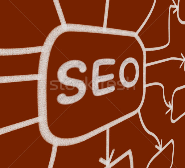 SEO Diagram Means Optimized For Search Engines Stock photo © stuartmiles