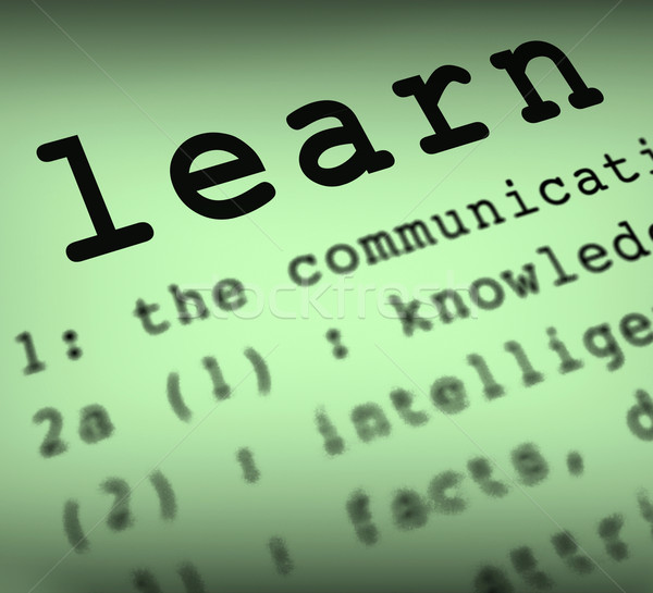Learn Definition Means Distance Education And Learning Stock photo © stuartmiles