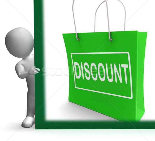 Discount Shopping Sign Means Cut Price Or Reduce Stock photo © stuartmiles