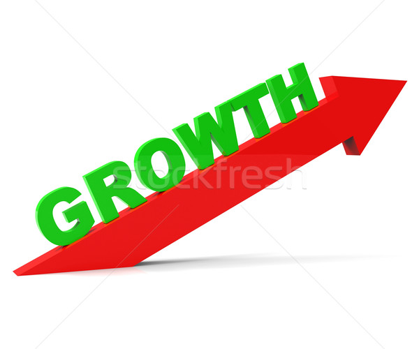 Increase Growth Indicates Rising Advance And Arrow Stock photo © stuartmiles