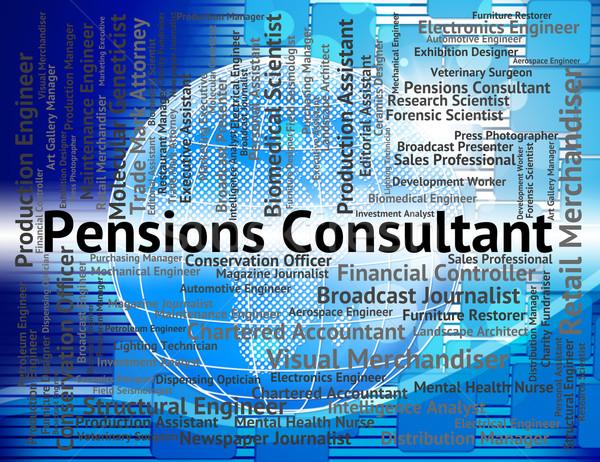 Konsultant oferty pracy pracy doradca wsparcia Zdjęcia stock © stuartmiles