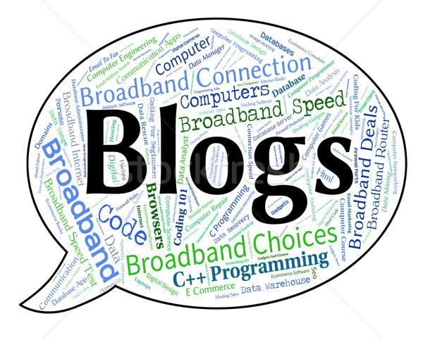Blogs Word Shows Weblog Blogging And Blogger Stock photo © stuartmiles