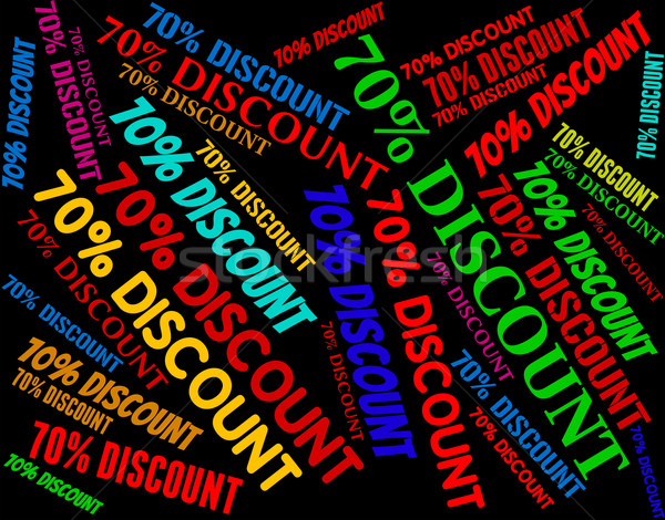 Seventy Percent Off Shows Retail E-Commerce And Discount Stock photo © stuartmiles