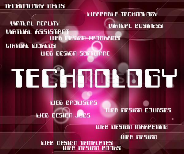 Stock fotó: Technológia · szó · elektronika · elektronikus · szavak · digitális