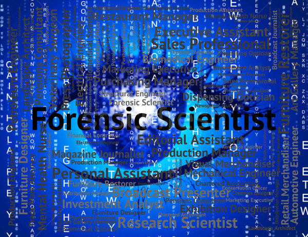 Forensic Scientist Shows Position Scientists And Word Stock photo © stuartmiles