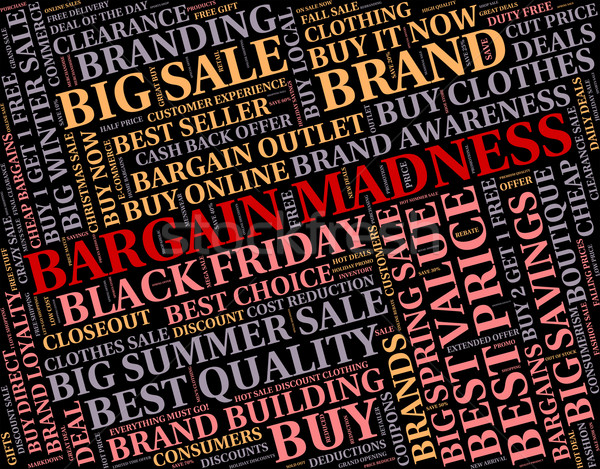 Bargain Madness Shows Discount Crazy And Sale Stock photo © stuartmiles