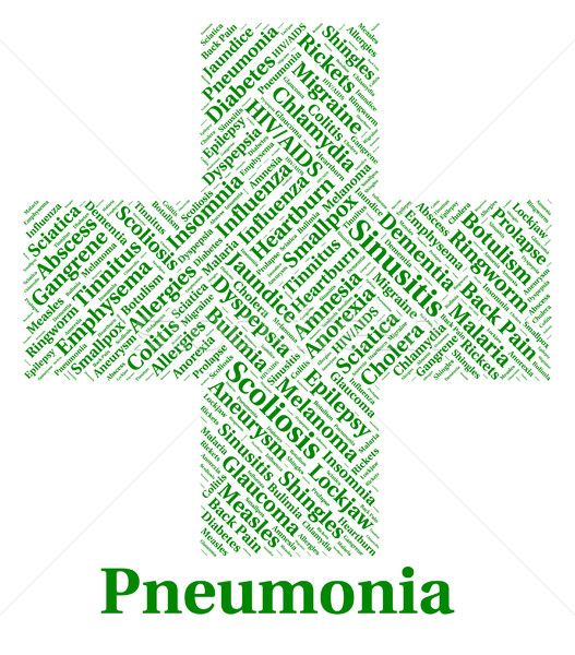 Pneumonia Illness Represents Poor Health And Ailment Stock photo © stuartmiles