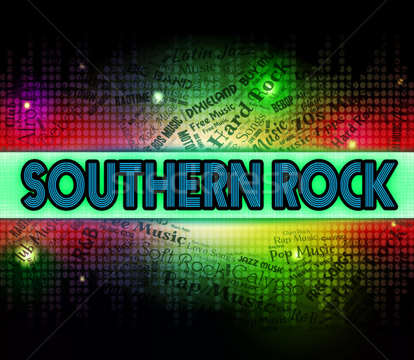 Southern Rock Indicates Country Music And Harmonies Stock photo © stuartmiles
