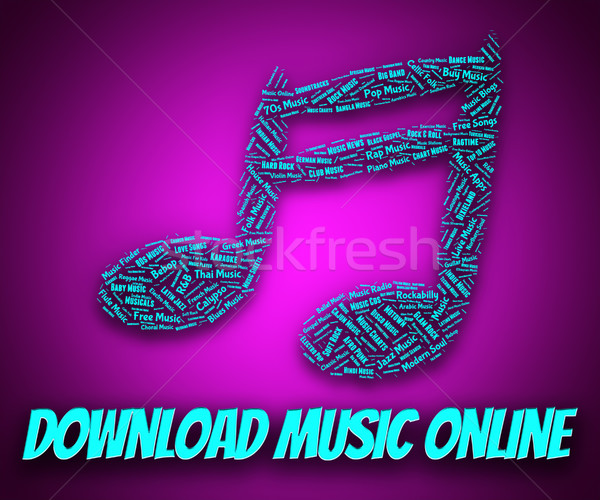 Downloaden muziek online website toepassing track Stockfoto © stuartmiles