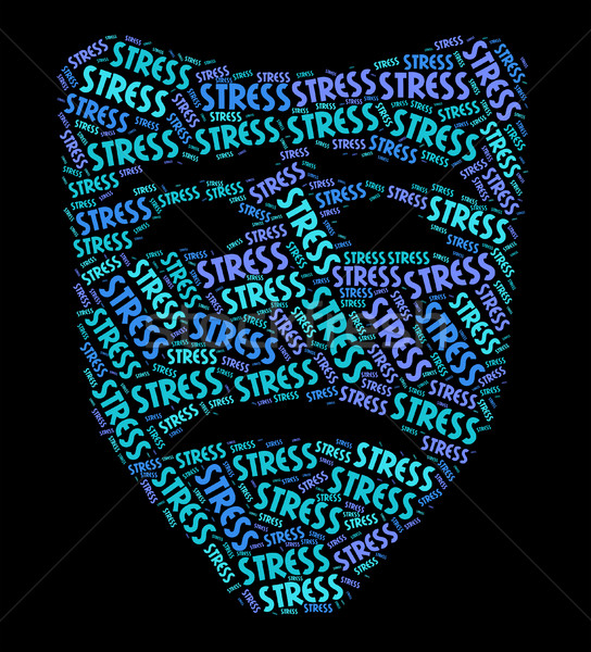 Stress Word Represents Stressful Overload And Wordclouds Stock photo © stuartmiles