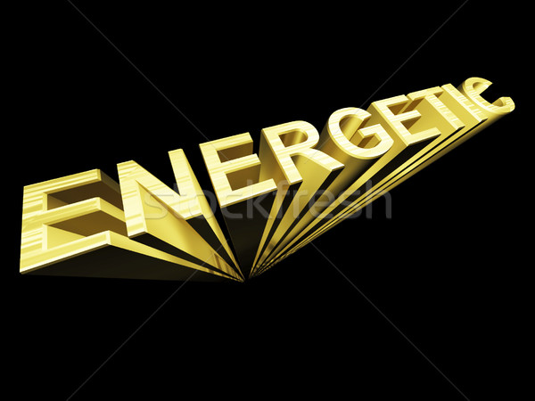 énergique texte or 3D symbole fitness Photo stock © stuartmiles