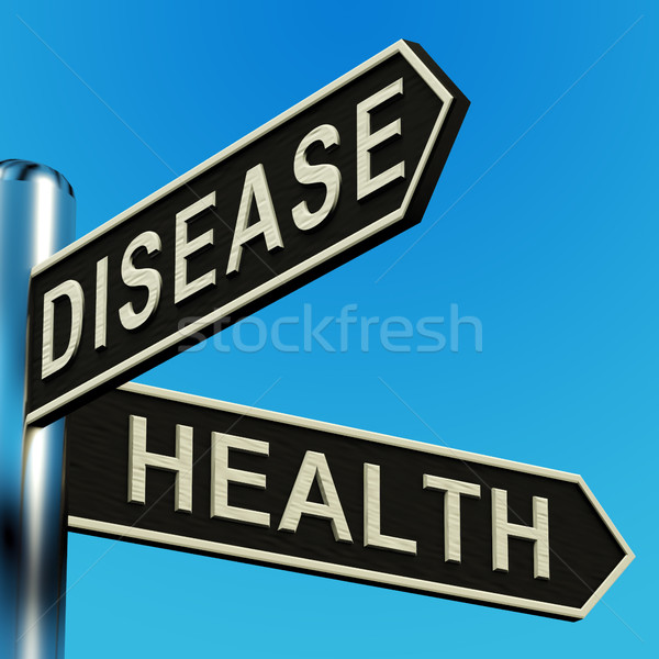 Disease Or Health Directions On A Signpost Stock photo © stuartmiles