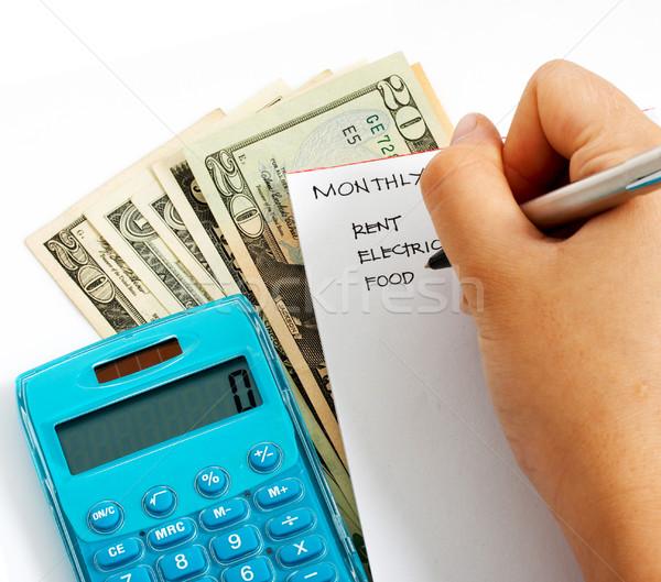 Famiglia bilancio mensile calcolo spese Foto d'archivio © stuartmiles