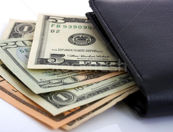 Dollars Cash In A Black Wallet Stock photo © stuartmiles