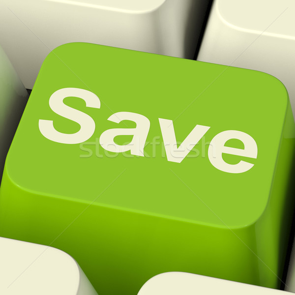 Save Computer Key As Symbol For Discounts Or Promotion Stock photo © stuartmiles