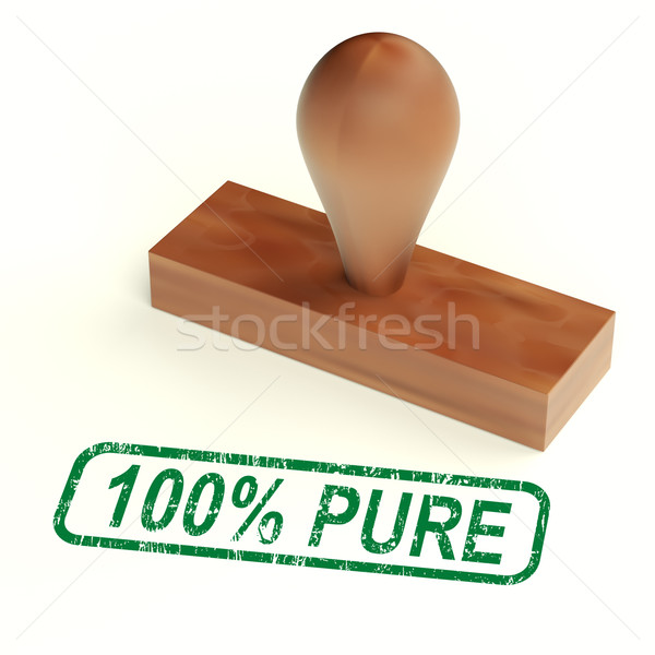 One Hundred Percent Pure Stamp Shows Genuine Or Natural Stock photo © stuartmiles
