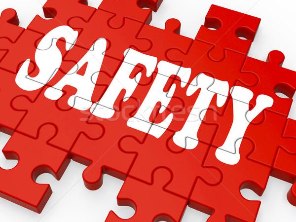 Güvenlik bilmece şirket güvenlik sigorta Stok fotoğraf © stuartmiles
