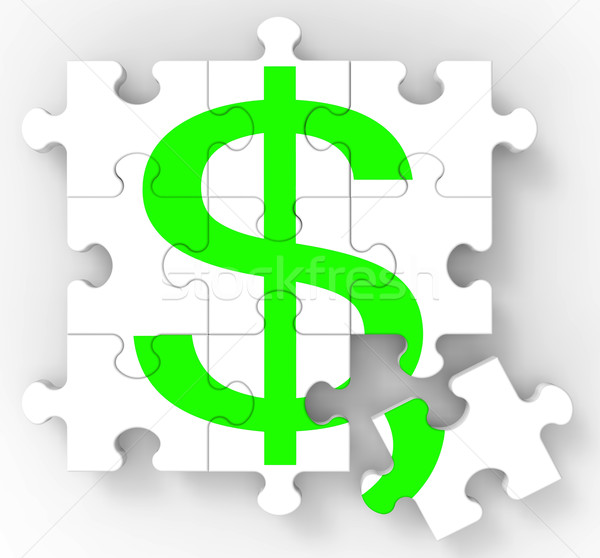 Сток-фото: доллара · головоломки · американский · инвестиции · доходы