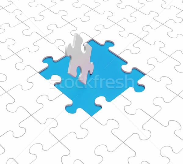Vermist puzzelstukjes puzzel verloren verbinding strategie Stockfoto © stuartmiles