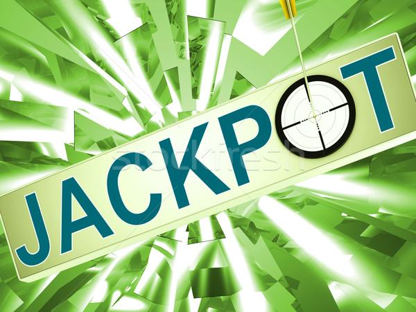 Jackpot chanceux gagnant jeux vegas Photo stock © stuartmiles