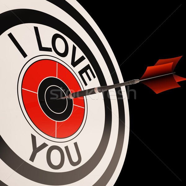 I Love You Target Shows Valentines Affection Stock photo © stuartmiles