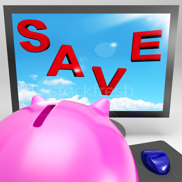 Save On Monitor Shows Big Promotions Stock photo © stuartmiles