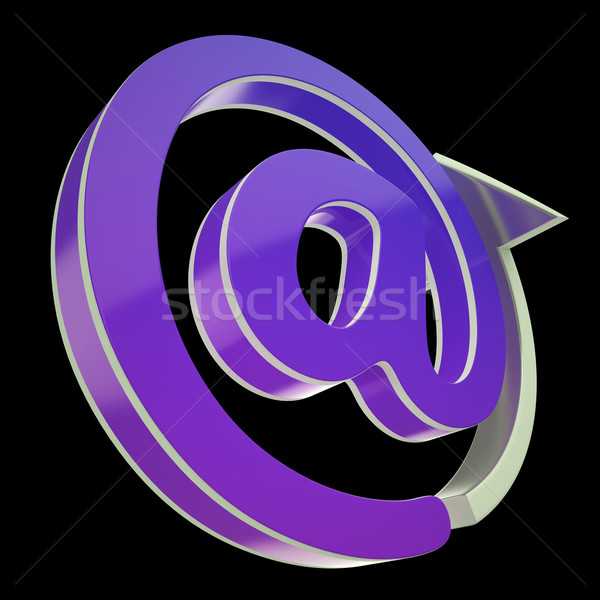 At-Symbol Shows E-mailing To Communicate At Office Stock photo © stuartmiles