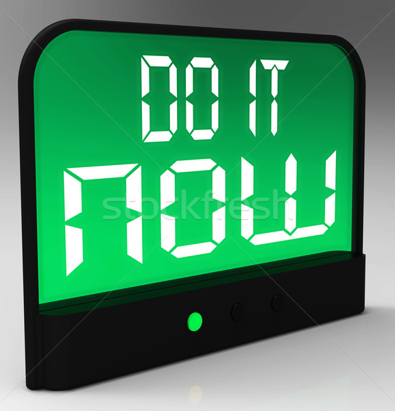 Do It  Now Clock Showing Urgency For Action Stock photo © stuartmiles