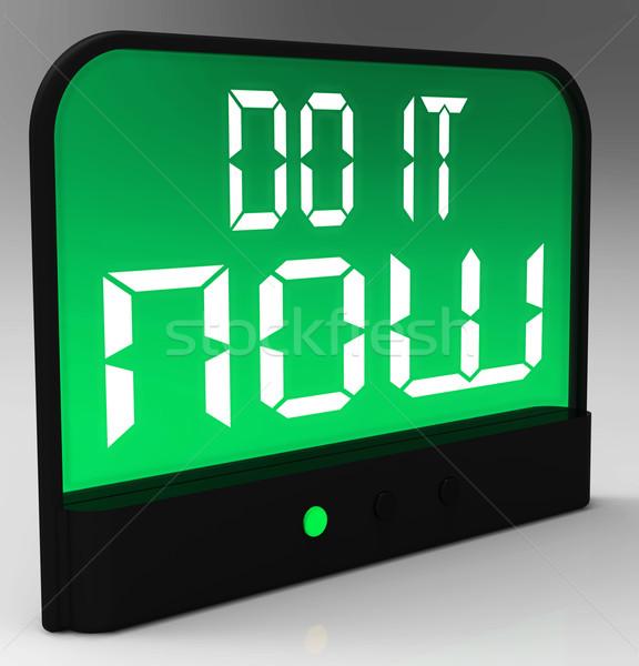 Ora clock urgenza azione Foto d'archivio © stuartmiles