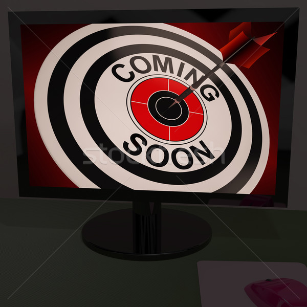 Coming Soon On Monitor Shows Arriving Promotions Stock photo © stuartmiles