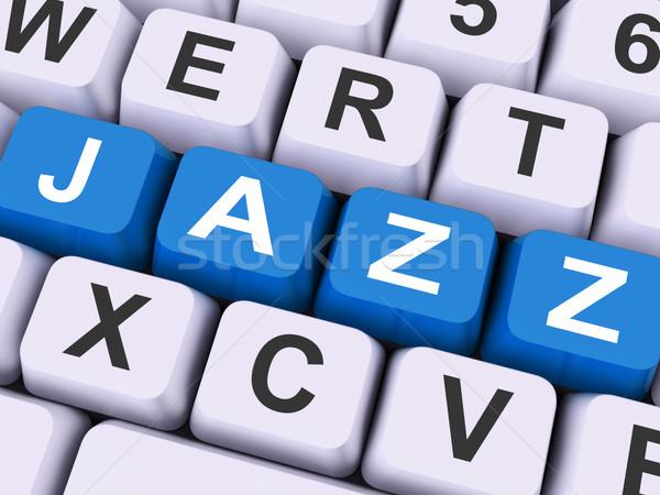 Dzsessz kulcs koncert zenekar zene mutat Stock fotó © stuartmiles