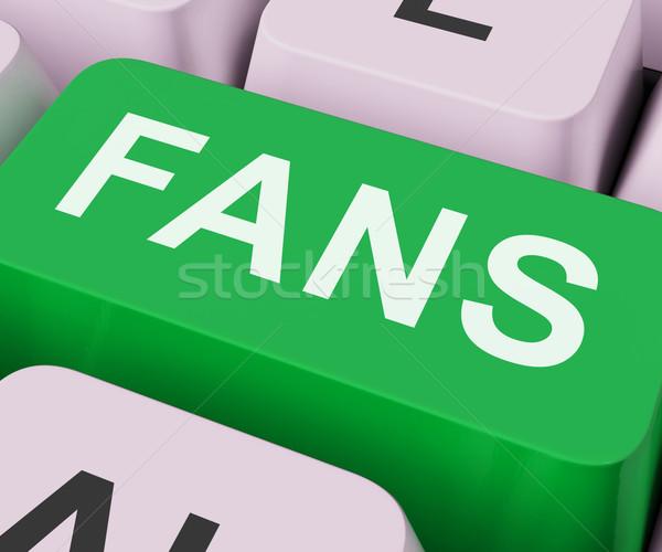 Fanlar anahtar takipçi Internet fan Stok fotoğraf © stuartmiles